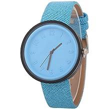 FCGV Reloj para Hombres, Mujeres, Estudiantes, Waterprof, Reloj, Correa de Cuero
