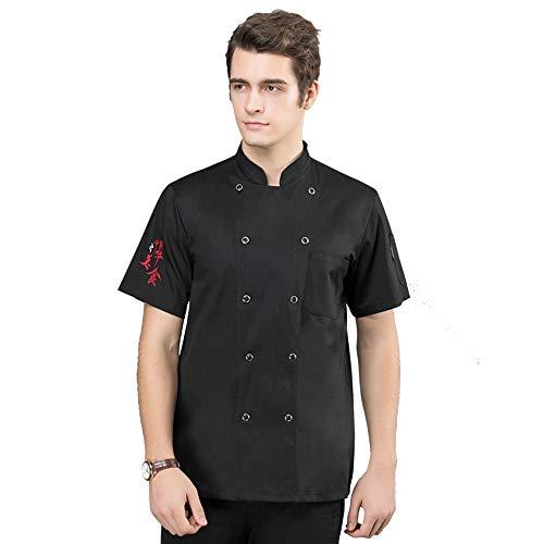 Best 4U Chef Works Essential Cool Vent Kochmantel,Black,M -