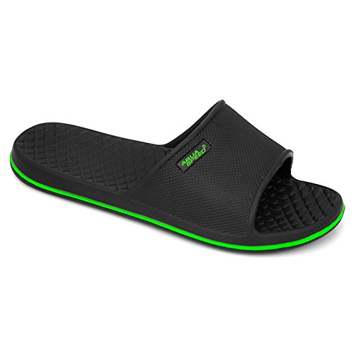 Aqua-Speed–Ciabatte da piscina/ ciabatte nuoto Nero/Verde