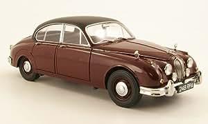 Jaguar MK II, Inspector Morse, noire-rot/noire, RHD, Model Car, Miniature déjà montée, Model-Icons 1:18