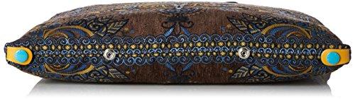 Borsetta Da Donna, Sacchettoni, 1 X 32 X 43 Cm Marrone (toni Taupe + Giallo)