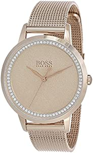 Hugo Boss Womens Quartz Wrist Watch, Analog and Stainless Steel- 1502464