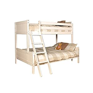 Comfy Living Triple 3ft Single & 4ft Small Double Wooden Enmore Bunk in White With 2 Basic Budget Mattresses