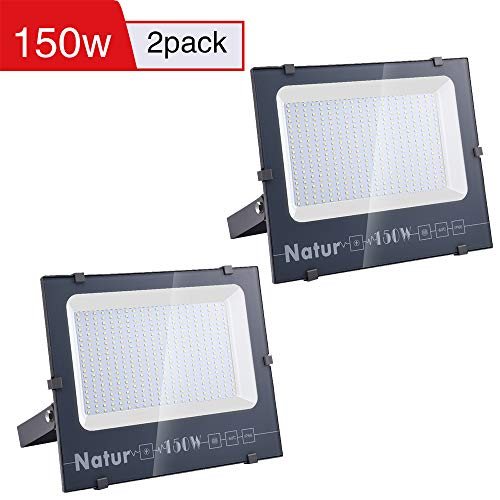 2 X 150W Natur LED Foco Exteriores 15000lm IP66 Impermeable Proyector Foco...