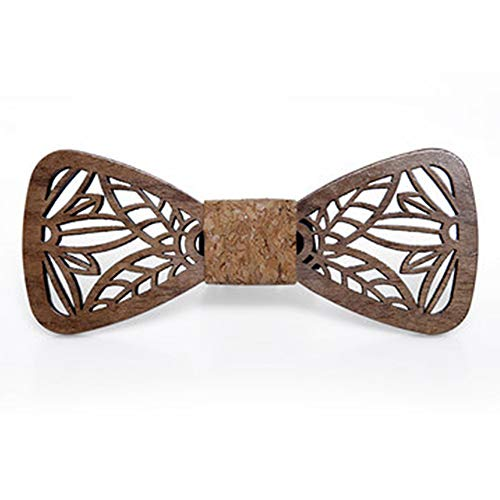DRHYSFSA-Accessories Holz Fliege Handmade Massivholz Qualität Log Benutzerdefinierte Holz Fliege Trend Tie Set Holz Fliege 100% Anzug Bekleidungszubehör -
