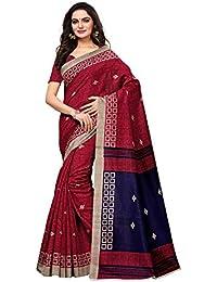 AKHILAM Women's Bhagalpuri Silk Saree with Unstitched Blouse Piece (Multi-Coloured_APHBUSP11903_P)