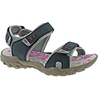 b751d4650bc8 PDQ Womens Ladies Walking Sandals/Navy Blue Adventure Touch Fastening