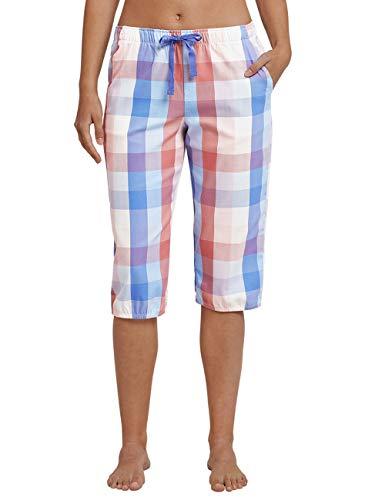 Schiesser Damen Mix & Relax Webhose 3/4 lang Schlafanzughose, Mehrfarbig (Multicolor 904), 38 (Herstellergröße: 038) -