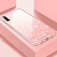 Sarpico for Huawei P20lite/Nova3 Phone Case Concise Innovation Anti-Scratch Tempered Glass Anti-Fall Marble Print Dirt-Resistant