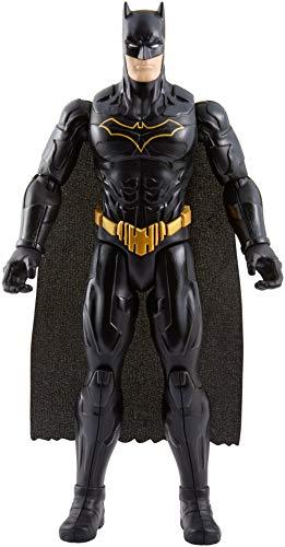 Figura de Batman, clásico personaje de DC Comics. El personaje viste su traje nocturno de camuflaje, con el que sigilosamente vigila las calles de la ciudad de Gotham. La figura tiene un tamaño de 30 cm aproximadamente y además es articulada en 11 pu...