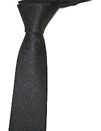 dc40ef4c3 Andre 6 cm marrón Negro Floral Paisley Corbata Flaca diseño clásico 100%  Seda Hombres Atar Partido del Todo-Partido Noche de Negocios…