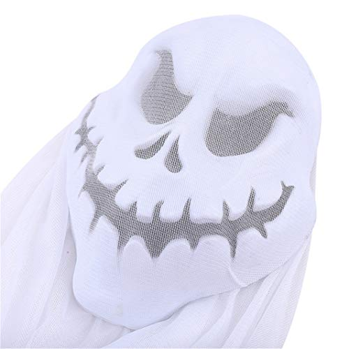 SHIJIAN 3 Farben Spukhaus Hängende Geister Halloween Gaze Ghost Festival Dekorationen Bar Mall Supermarkt Home Party Ornament, Weiß