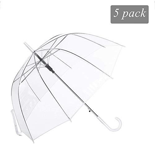 Transparenter Stabil Stockschirm Robuster Regenschirm für alle Altersgruppen Damen und Herren