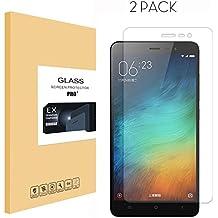 [2 Unidades] Xiaomi Redmi Note 3/Note3 Pro Protector Pantalla,Protector de Pantalla de Cristal Vidrio Templado del protector de película de la cubierta para Xiaomi Redmi Note 3 / Redmi Note 3 Pro