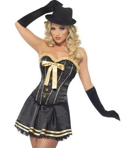 Donna Sexy corsetto 1920s Moll Gangster tutù gallina Do Costume