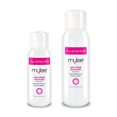 Mylee 100% Pure Acetone Superior Quality Nail Polish Remover UV/LED GEL Soak Off by Just Beauty