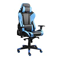 Racoor Video Gaming Chair, Black and Blue - H 131 cm x W 73 cm x D 51 cm
