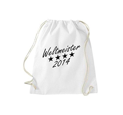 Turnbeutel So sehen Sieger aus Weltmeister 2014 Deutschland Gymsack Kultsack Weiß