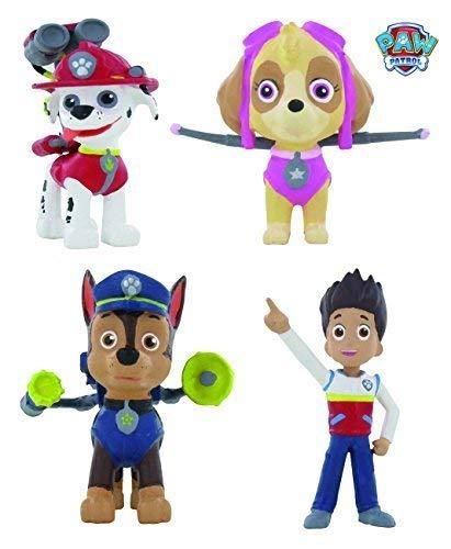 Kostüm Chase Dog Patrol Paw - Paw Patrol - Figurenset (Ryder, Chase, Skye, Marshall)