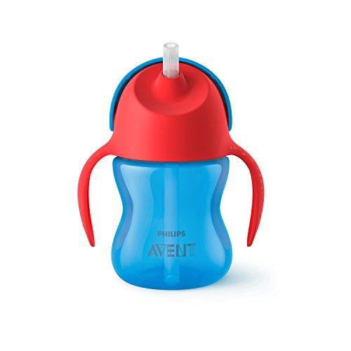 Philips Avent SCF796/01 Strohhalmbecher, 200 ml, blau/rot (Rote Tassen Trinken)