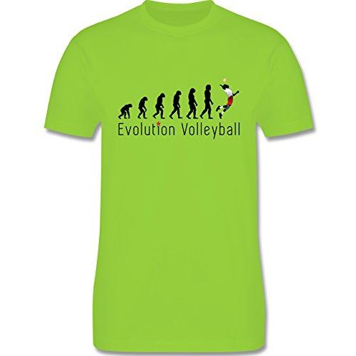 Evolution - Volleyball Evolution - Herren Premium T-Shirt Hellgrün