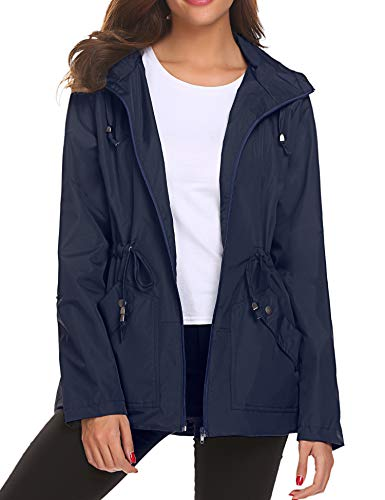 Lomon Chaqueta Impermeable para Mujer