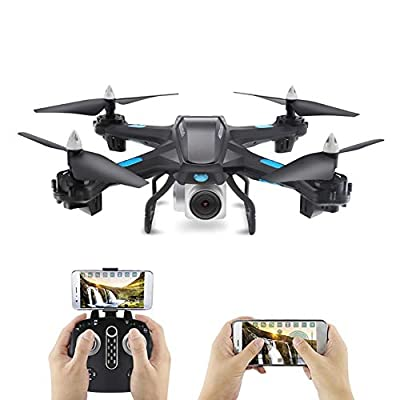 PEALO FPV Drone with WiFi Camera WIFI FPV Quadcopter Live Video Headless Mode 2.4GHz 4-Axis Gyro Quadcopter Aircraft Toy for Beginner