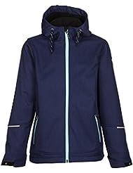 Killtec Soft shell chaqueta con capucha galianetta Jr, otoño/invierno, infantil, color dunkelnavy melange, tamaño 152