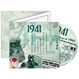 71st Birthday Gift Idea - 1941 Chart Hits CD and 1941 Greeting Card