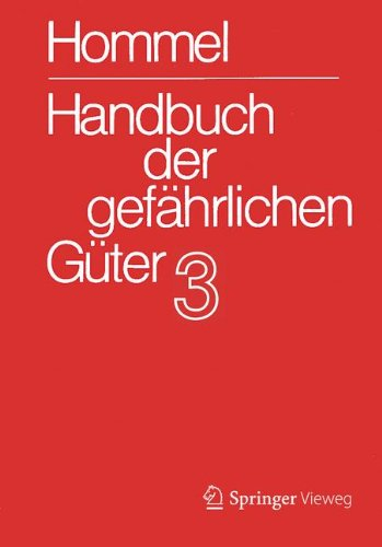 Handbuch der gefährlichen Güter. Band 3: Merkblätter 803 - 1205