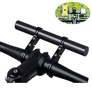 Homeet Bicicletta Manubrio Extender Supporto del Telefono Estensore Manubrio Bici Doppie Morsetti Doppio Telaio In Fibra…