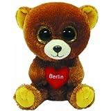 TY 7136112 - Berlin - Bär mit Glitzeraugen, Glubschi, 15 cm, braun mit rotem Herz