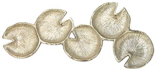 Laura Ashley Teelichthalter, Metall, für 5 Teelichter, silberfarben - Ashley Metall