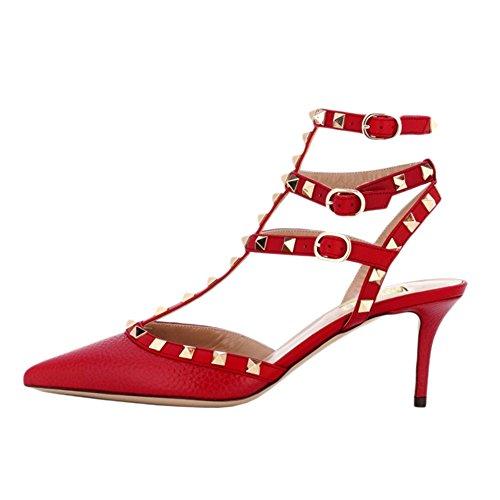 EKS , Sandales Plateforme femme Linien Rot