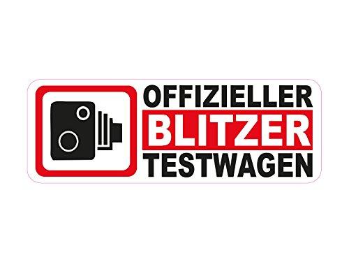 1 x Aufkleber Offizieller Blitzer Testwagen Strafe Test Wagen Sticker Tuning Fun
