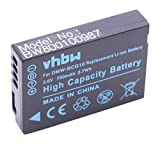 vhbw Li-Ion Akku 750mAh (3.6V) für Kamera Camcorder Video Panasonic Lumix DMC-3D1, DMC-TZ10, DMC-TZ18, DMC-TZ20, DMC-TZ22 wie DMW-BCG10E, DMW-BCG10.