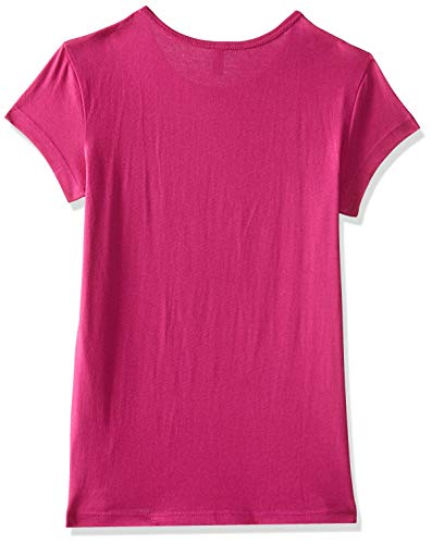 United Colors of Benetton Girls' Plain Regular Fit T-Shirt (18A3094CCEPPI_23B_M_Very Berry(Pink))