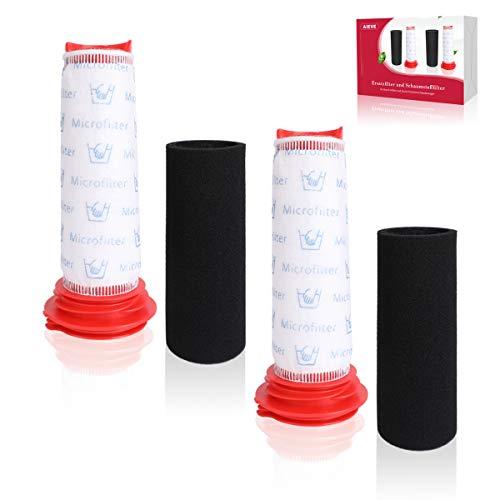 Filter für Bosch Staubsauger,AIEVE 2 Stk. Ersatzfilter und 2 Stk. Schaumstofffilter Zubehör kompatibel mit Bosch Athlet Handstaubsauger BCH6L2560 BCH6L2561/Bosch BCH6ZOOO Zoo'o ProAnimal Staubsauger