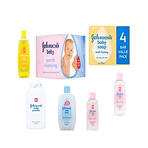 Johnson 's Baby Care-Set, 7-teilig, umfasst Shampoo 2x 200-ml-400-Baby Powder, 56und 4Stück Johnson 's Baby-Seife mit Honig -
