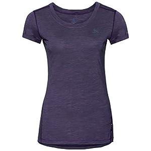 Odlo SUW, T-Shirt Donna, Plum Perfect/Quail, XL