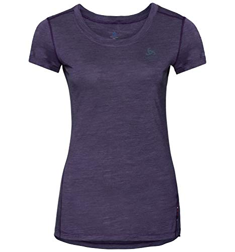 Odlo SUW, T-Shirt Donna, Plum Perfect/Quail, XL