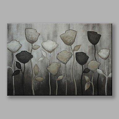 24 Zeitgenössische Leinwand (CHSUKHO Handgemalte Blumenmuster/Botanisch Horizontal,Zeitgenössisch Blume Abstrakt Ein Panel Leinwand Hang-Ölgemälde For Haus Dekoration , 24
