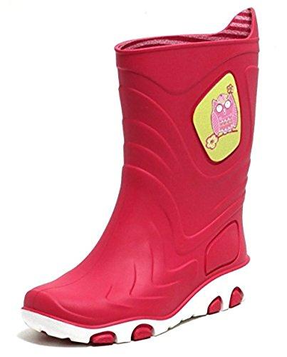 Kinder Mädchen Jungen Motiv Regenstiefel Gummistiefel Stiefel Kinderstiefel Kinderschuhe Schuhe Eule Hai Drache Pink