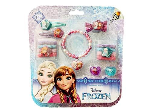 Kostüm Einzigartige Disney - Disney Frozen Elsa und Anna Schöne Reihe | Mädchen Daily Zubehör | Kostüm | Haar- und Schmuckzubehör | Armband | Ring | Haarspangen | Haarbänder | Haarbürste |