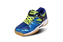 Kwickk Mens Imported PU Professional Badminton Shoes Blue 10 UK