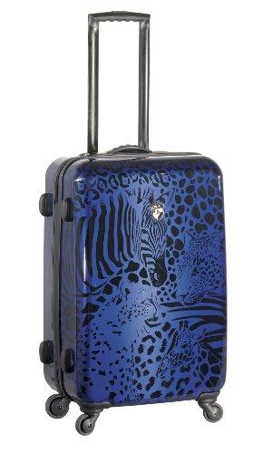 ... 50% SALE ... PREMIUM DESIGNER Hartschalen Koffer - Heys Core Serengeti Metallic Silber - Trolley mit 4 Rollen Gross Metallic Blau