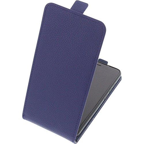 foto-kontor Tasche für Gigaset GS270 / GS270 Plus Smartphone Flipstyle Schutz Hülle blau