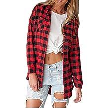 the best attitude 59bb4 e065e Amazon.it: camicia donna quadri rossa e nero - Rosso