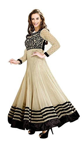 Maxthon Fashion Women's Wine Net Embroidery Anarkali Unstitched Free Size XXL Salwar Suit Dress Material (Women's Indian Clothing 2253)