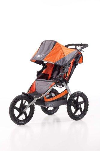 BOB Sport Utility Stroller - Cochecito todoterreno de 3 ruedas, color gris y naranja